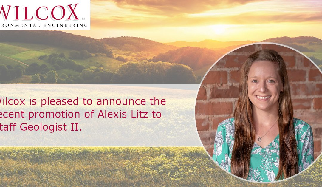 Wilcox is pleased to announce the recent promotion of Alexis Litz to Staff Geologist II.