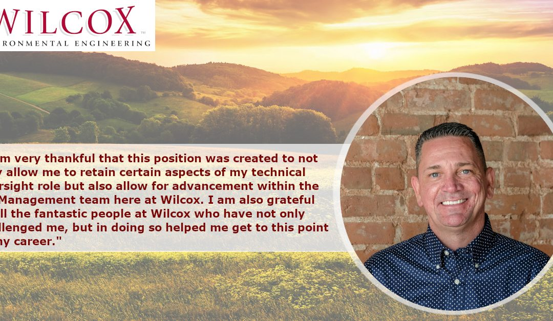 Wilcox Environmental Engineering is pleased to announce Scott Stoldt has been promoted to Executive Director.